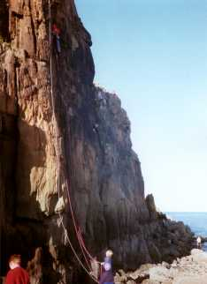 Climbers on Pain Pillar